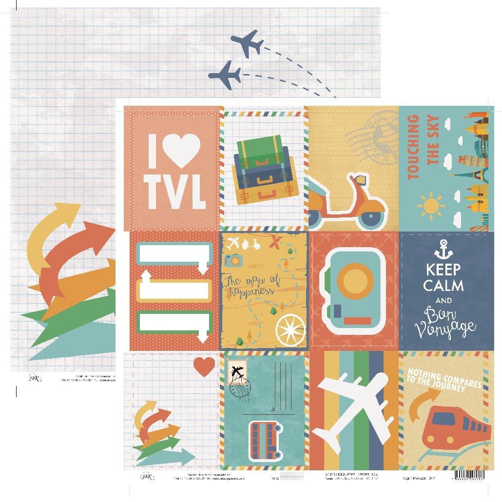 Papel Viagem Postcards Okscrapbook - 9517