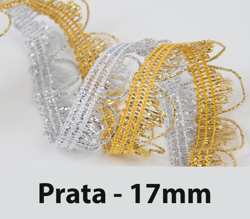 Passamanaria 17mm Prata 7160 São José 10 Metros