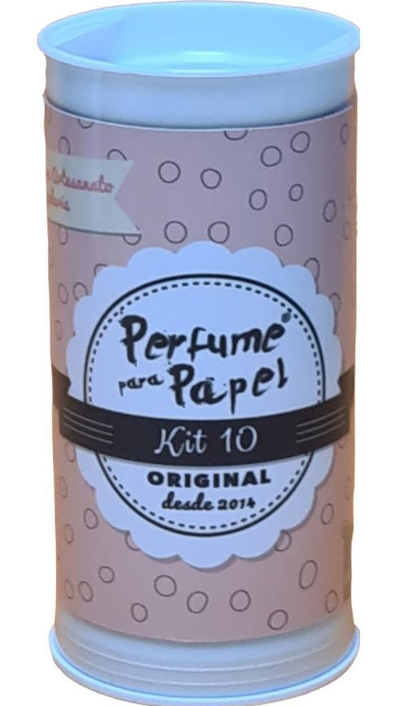 Perfume para Papel Kit 10 com 5 aromas 15ml cada + Embalagem colecionável
