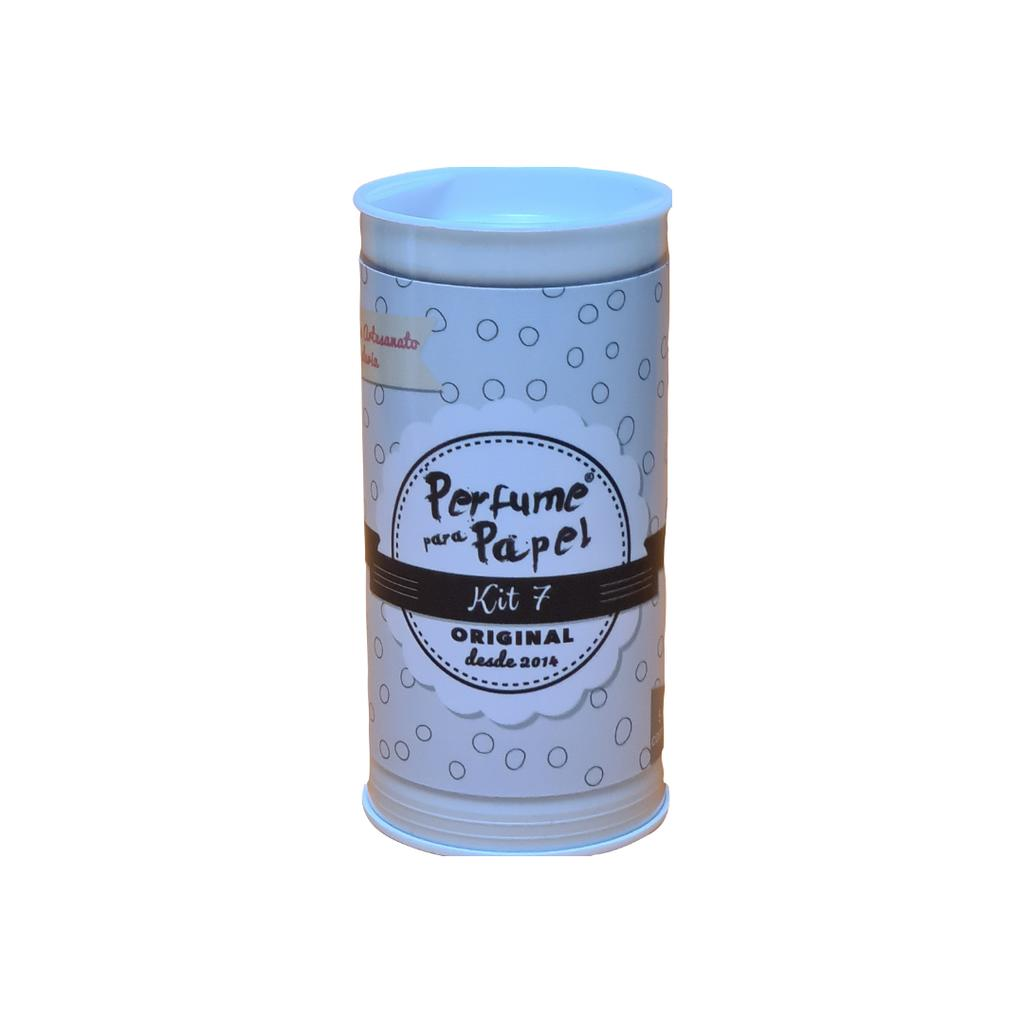 Perfume para Papel Kit 7 com 5 aromas 15 ml cada + Embalagem colecionável