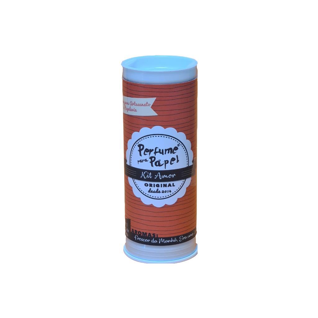 Perfume para Papel Kit Amor com 3 Aromas 15 ml cada (Frescor da Manhã, Romance, Era Uma Vez)