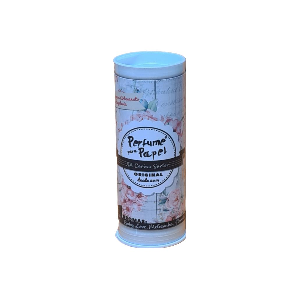 Perfume para Papel Kit Carina Sartor com 3 aromas 15 ml cada (Melissinha, Baby Love, Floresta Encantada)
