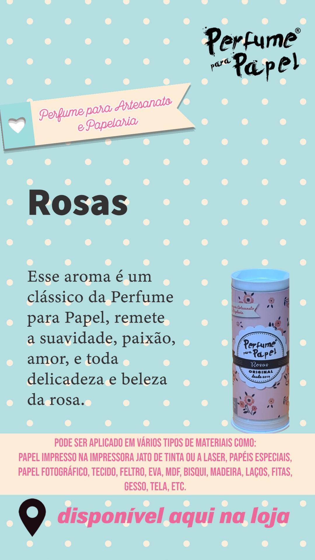 Perfume para Papel Kit Floral com 3 aromas 15 ml cada (Rosas, Rosas Brancas, Garden)