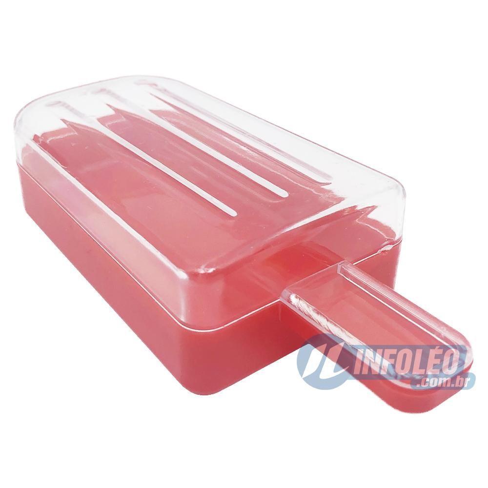 Picolé Plástico Vermelho Grande 5x2,5x11cm - Unidade