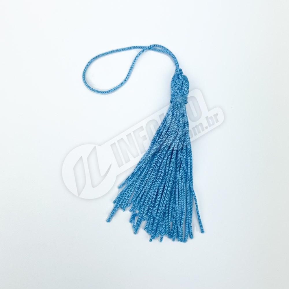 Pingente 7cm Azul Turquesa 199 Franja de Seda (Tassel) - 10 unidades