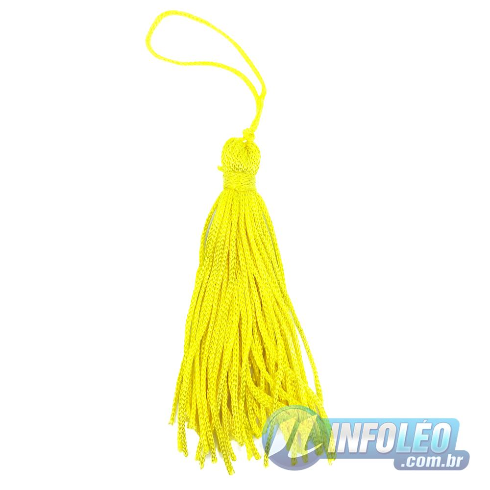 Pingente 9cm Amarelo 106 Franja de Seda - 10 unidades