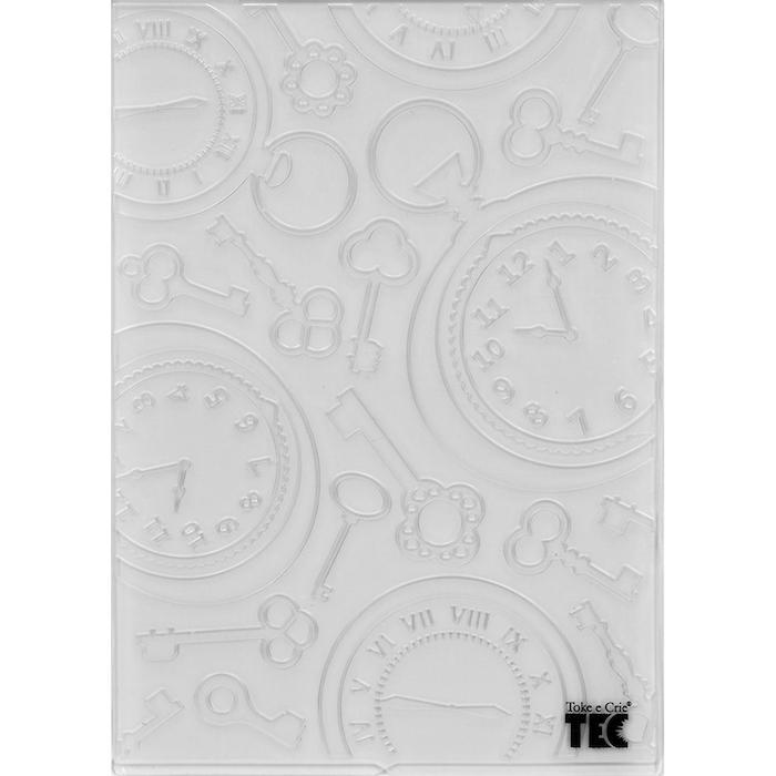Placa para Relevo 2D Relógio Vintage II 107x139mm Toke e Crie - 20928 - PPR014