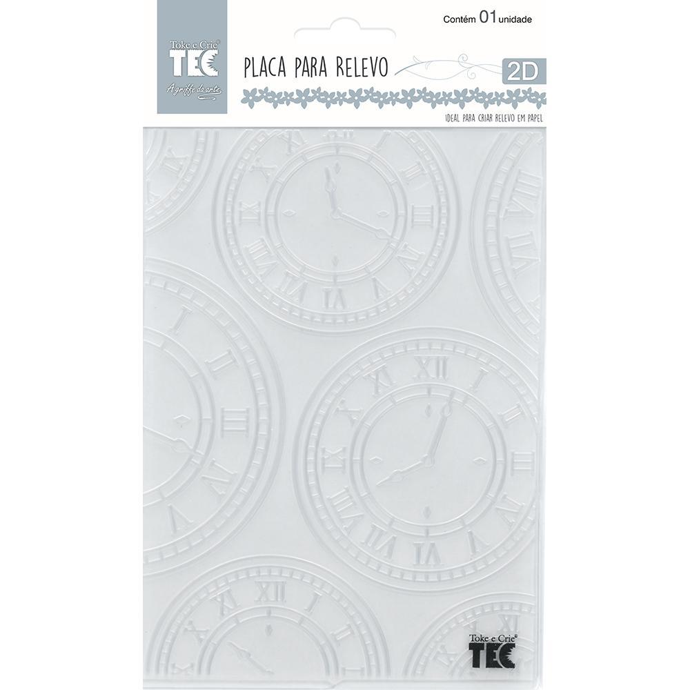 Placa para Relevo 2D Relógios Vintage I 107x139mm Toke e Crie - 20927 - PPR013
