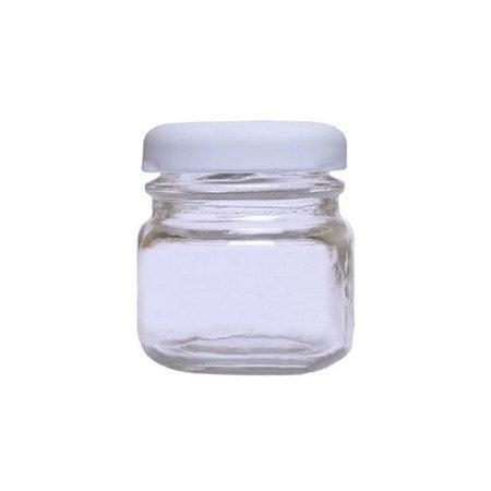 Pote de Vidro Papinha Liso 40ml Tampa Branca - Unitário