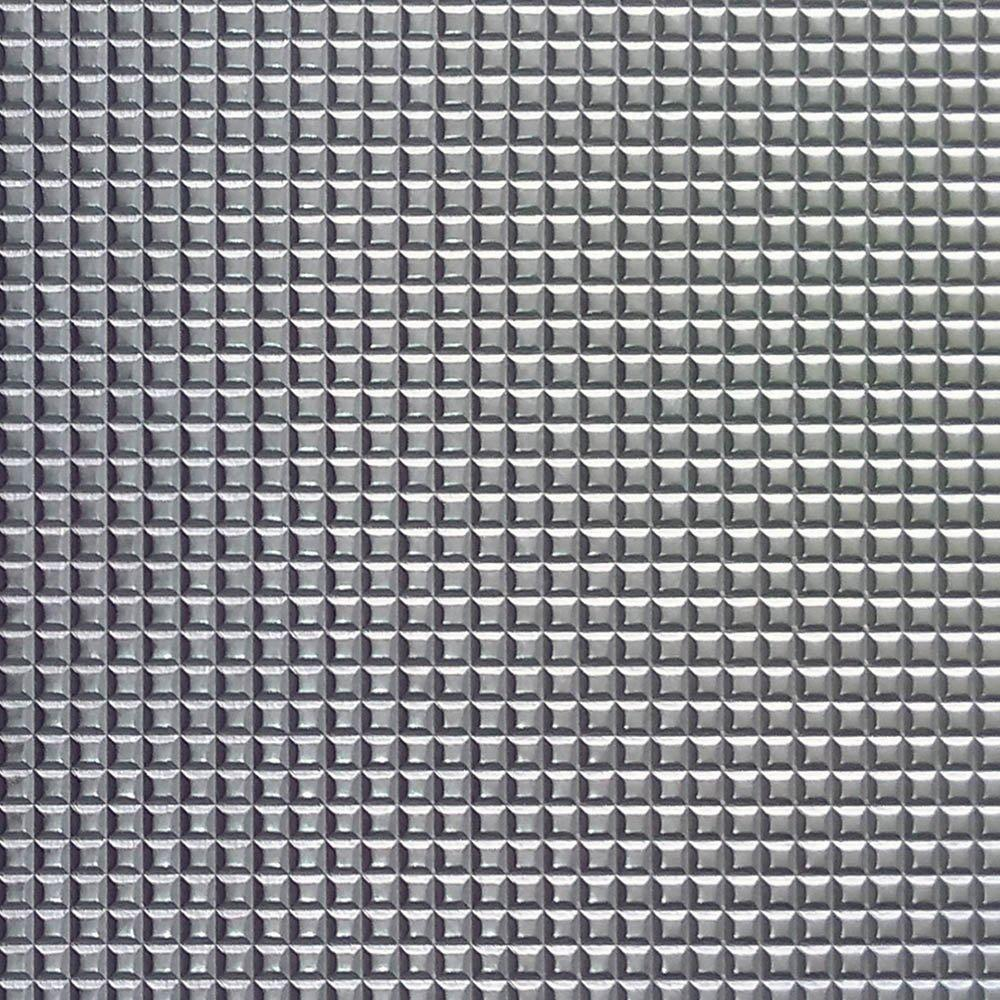 PU Quadriculado Prata C/ Textura Festa 31x43cm - 0003 - Unidade