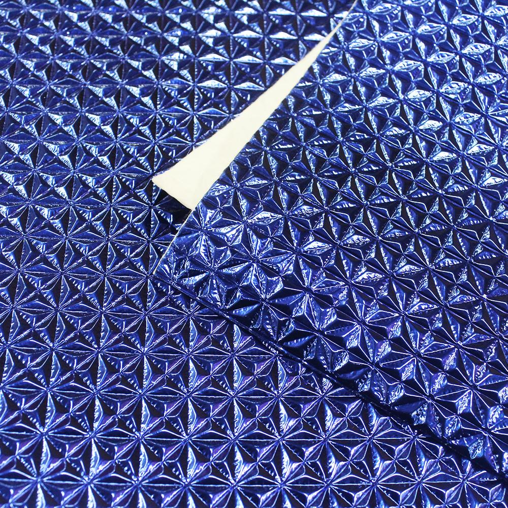 PVC Epcot Azul Royal Laminado Metalizado 45x50cm