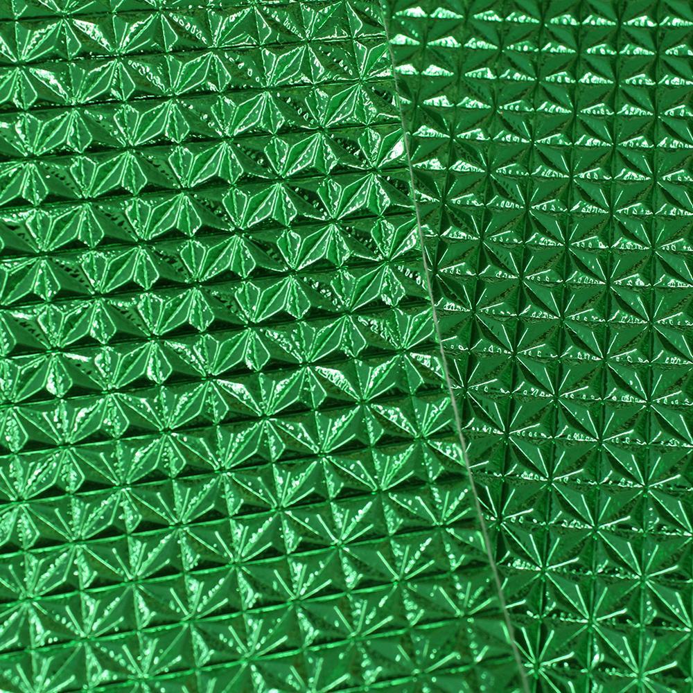 PVC Epcot Verde Bandeira Laminado Metalizado 42x50cm