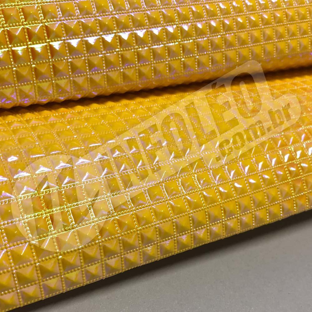 PVC Keóps Irisado Amarelo Furta-Cor 45x50cm