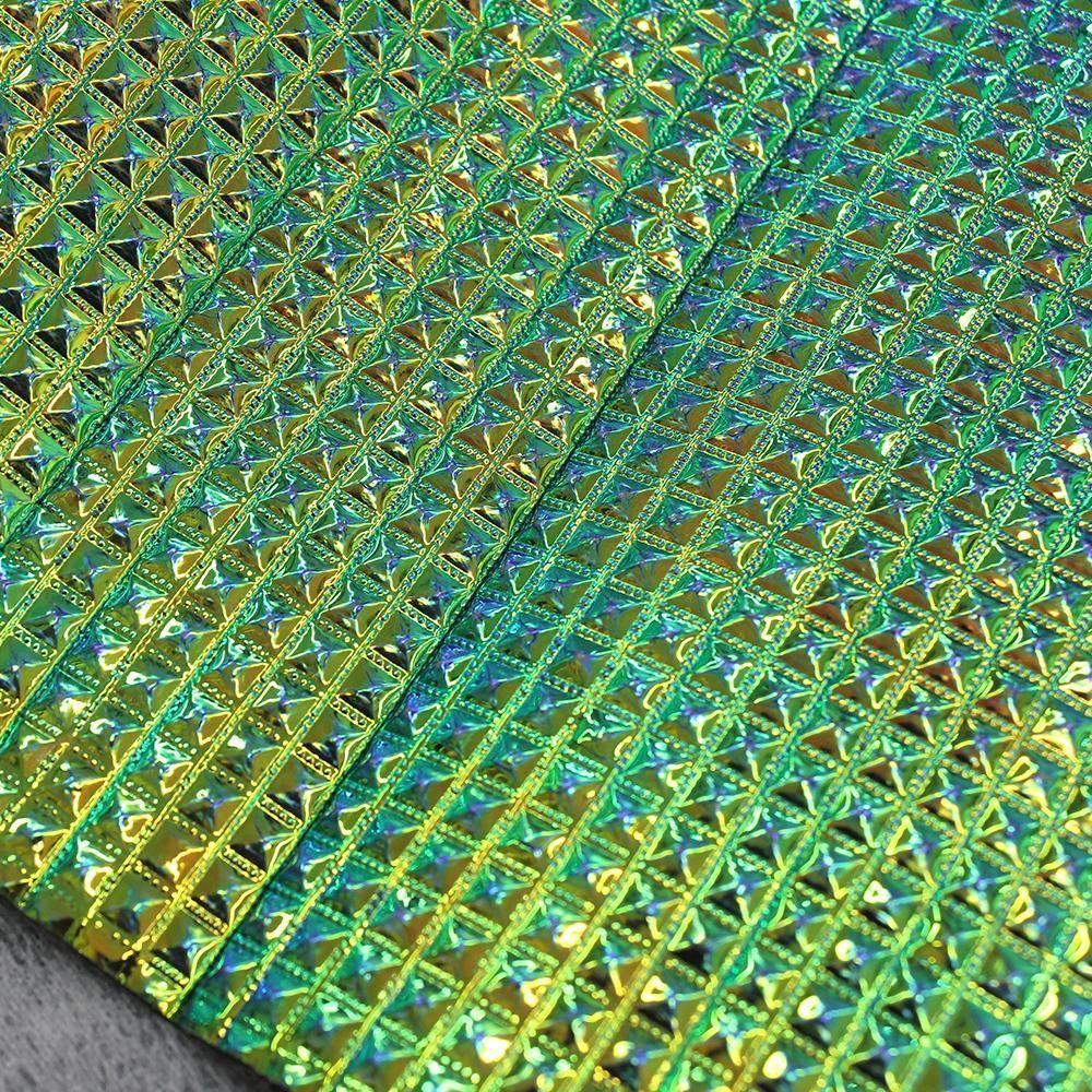 PVC Keóps Irisado Verde e Amarelo Furta-Cor 45x50cm