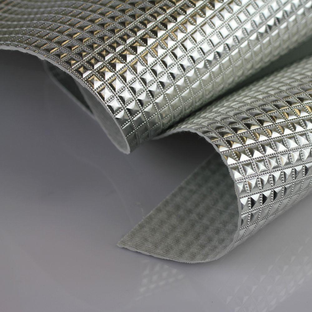 PVC Keóps Prata Laminado Metalizado 45x50cm