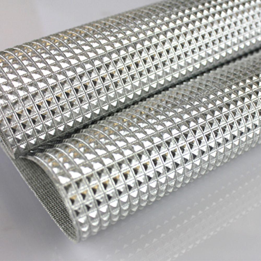 PVC Mini Keóps Prata Laminado Metalizado 42x50cm