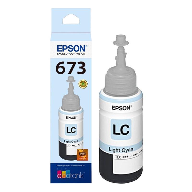 Refil de Tinta Epson Ciano Claro P/ L800 / L805 / L810 / L850 / L1800 70ml - T673520-AL