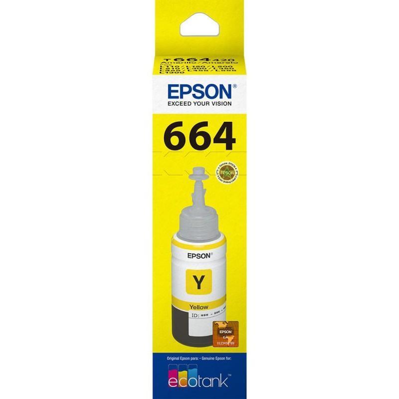 Refil Epson Amarelo P/ L110 / L120 / L200 / L210 / L220 / L355/ L365 / L455 / L555 / L565 / L375 / L575 / L1300 / L395 / L495 / L396 - T664420-AL
