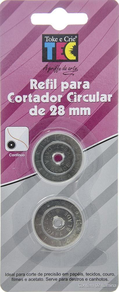 Refil Toke e Crie Laminas P/ Cortador Continuo 28mm - DI017