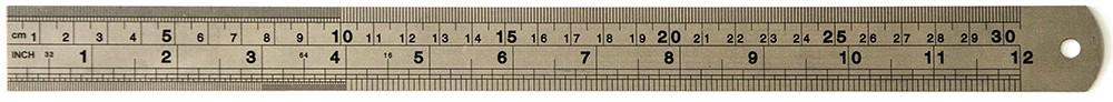 Regua Toke e Crie Metal 30cm - 7458 - RM002