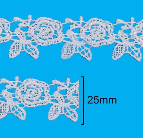 Renda Guipir 25mm Branco 101 CHL-619 - 2 Metros