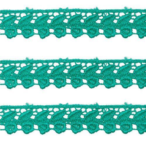 Renda Guipir 25mm Verde Turquesa 539 CHL-599 - 2 Metros