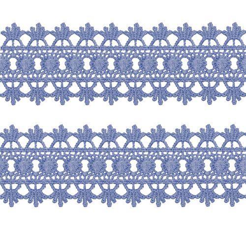 Renda Guipir 50mm Azul Cinzento 165 CHL-618 - 2 Metros