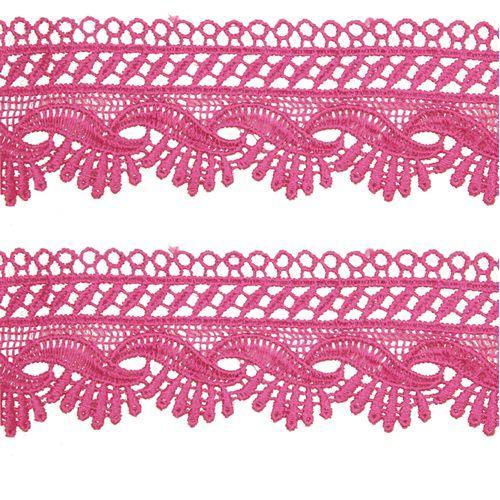 Renda Guipir 50mm Rosa Pink 312 CHL-589 - 2 Metros