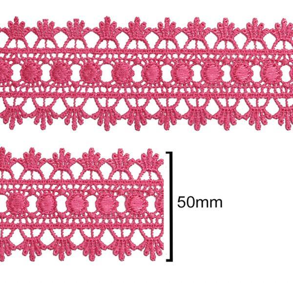 Renda Guipir 50mm Rosa Pink 312 CHL-618 - 2 Metros