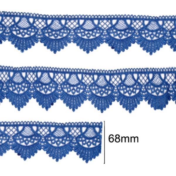 Renda Guipir 68mm Azul Royal 207 CHL-438 - 2 Metros