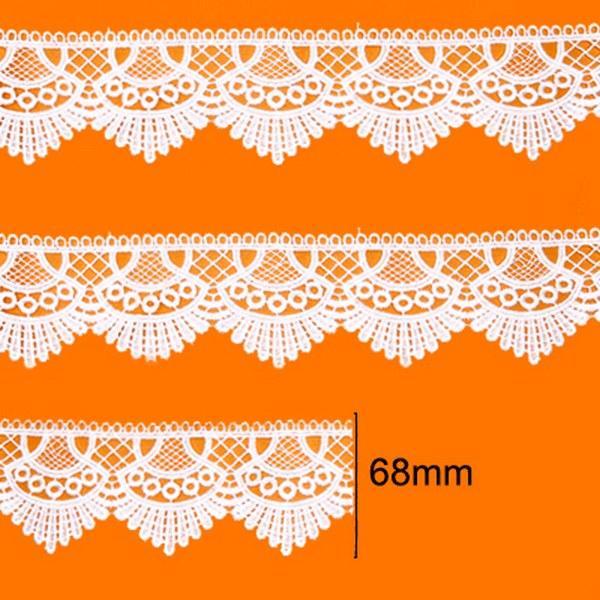 Renda Guipir 68mm Branco 101 CHL-438 - 2 Metros