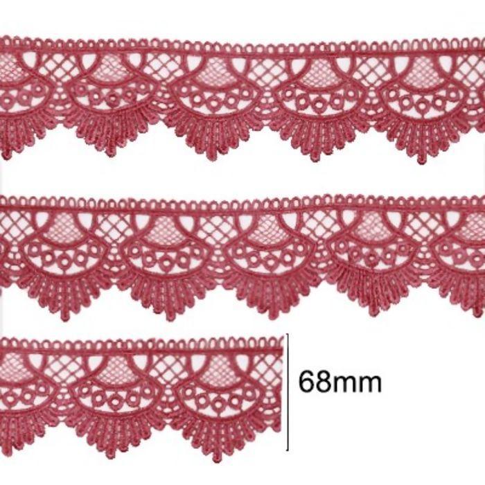 Renda Guipir 68mm Rosa Pink 312 CHL-438 - 2 Metros