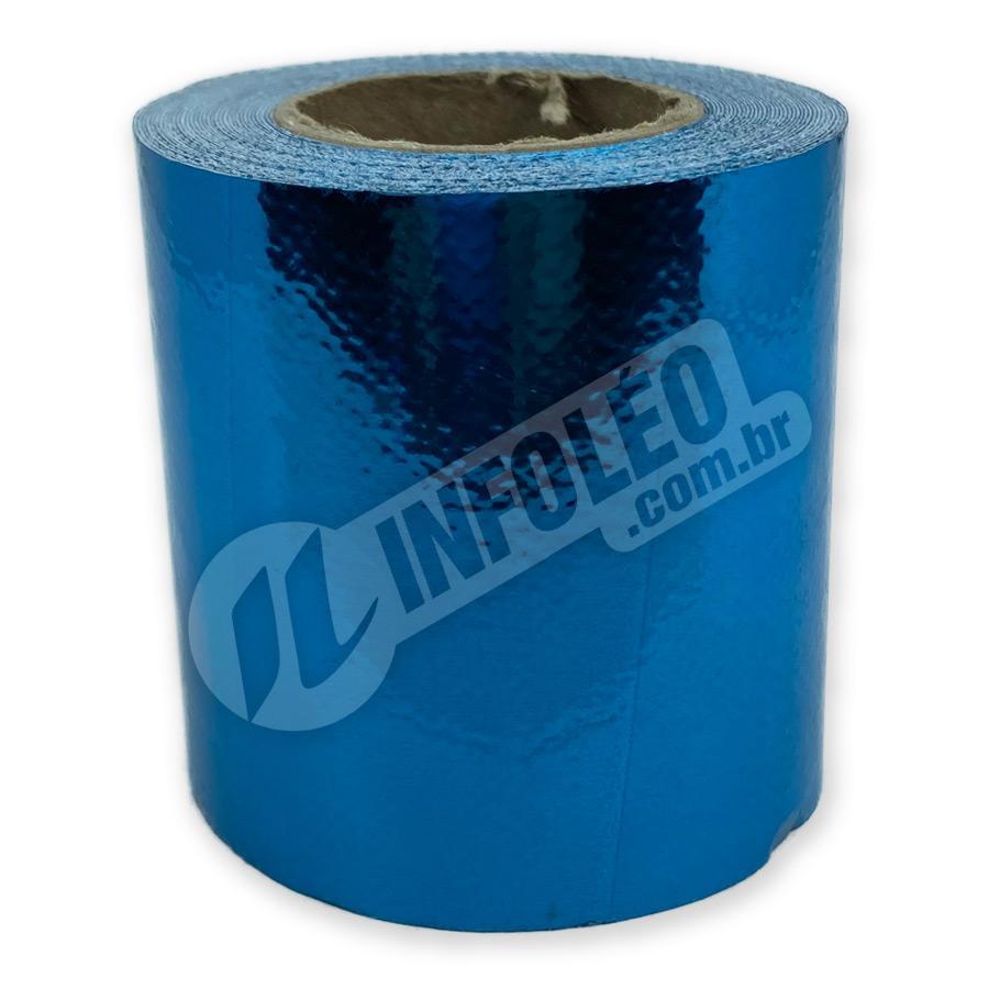 Rolo Lonita Espelhada Azul Celeste 6cm x 5 metros