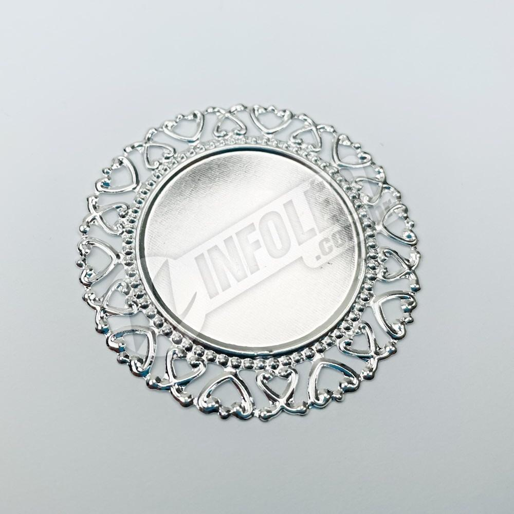 Tag Redonda Prata 5,5cm - 10 unidades