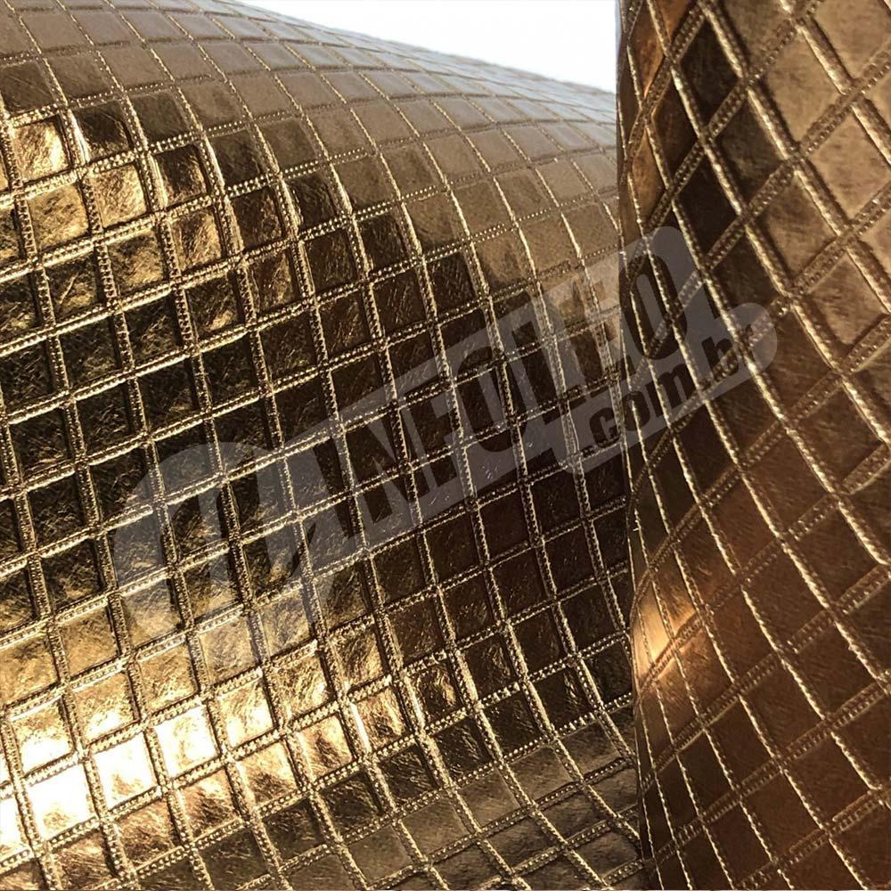 Tecido Corino Bronze Metalassê Festa 43x31cm - 65