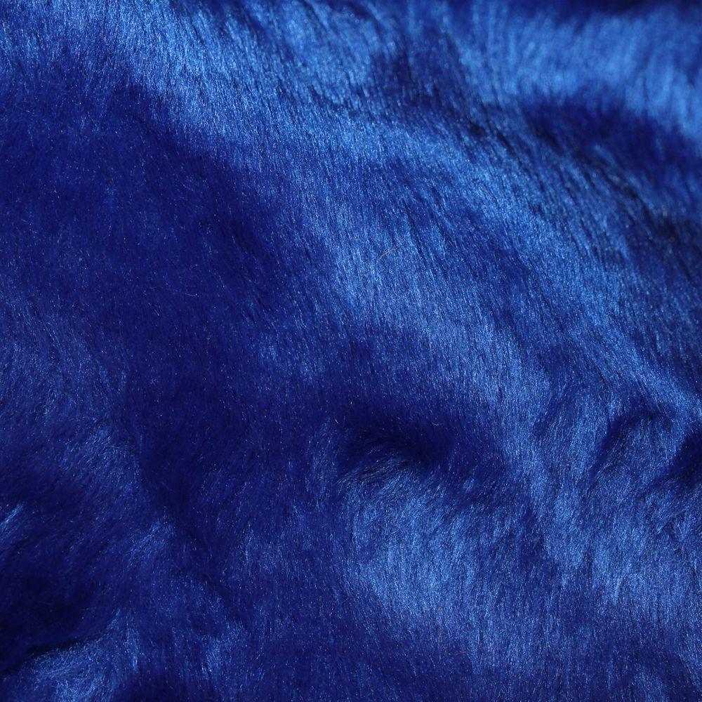 Tecido Pelucia Azul Royal Pele de Carneiro / Ovelha 100% Poliester 45x48cm