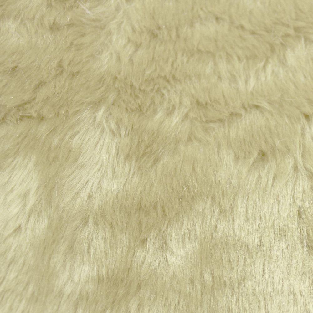 Tecido Pelucia Creme Pele de Carneiro / Ovelha 100% Poliester 42x48cm