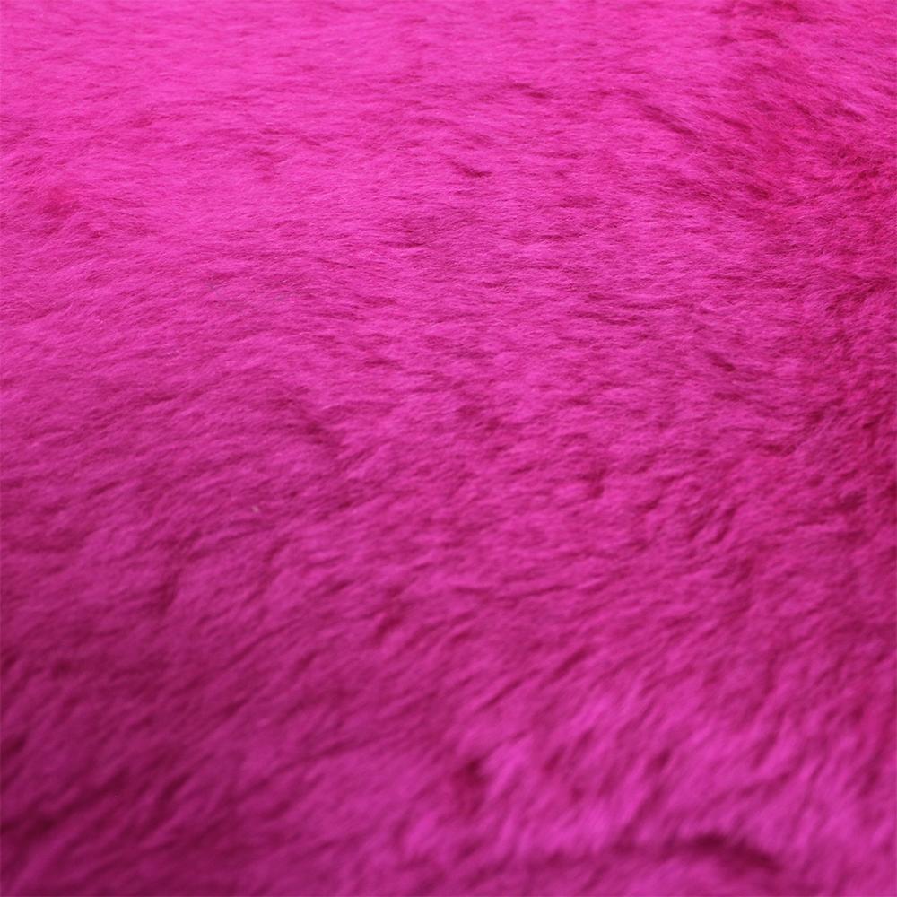Tecido Pelucia Rosa Pink Pele de Carneiro / Ovelha 100% Poliester 42x48cm