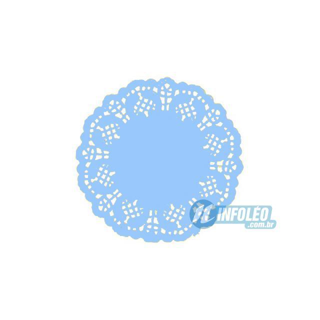 Toalha de Papel Rendado Azul 9cm Doilie - 24 unidades