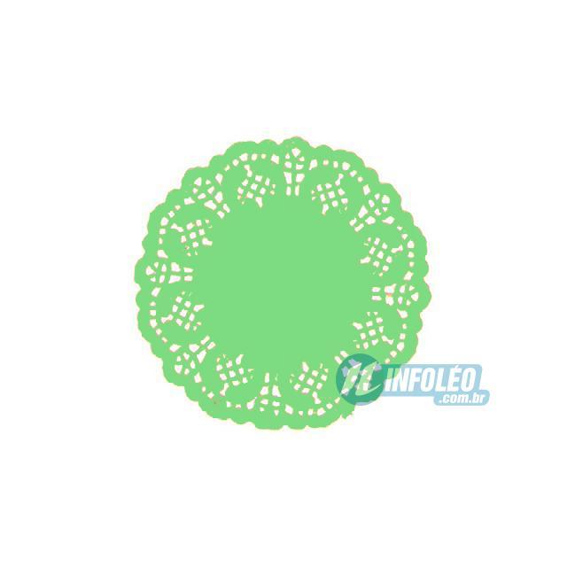 Toalha de Papel Rendado Verde 9cm Doilie - 24 unidades