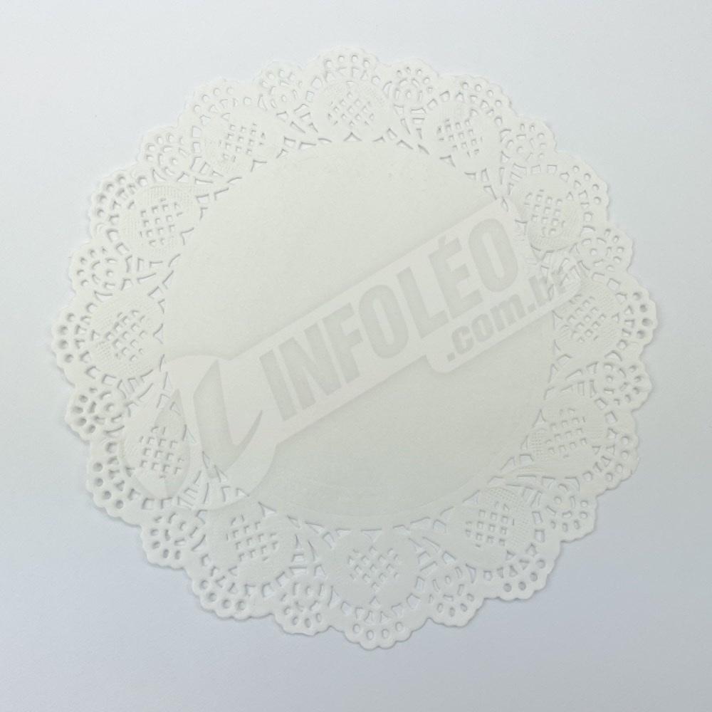 Toalha Papel Branco Doilie 16,5cm - 24 unidades