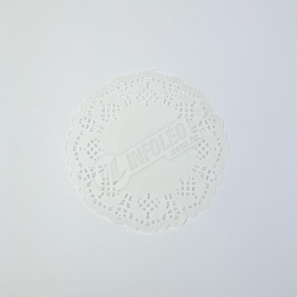 Toalha Papel Branco Doilie 9cm - 24 unidades