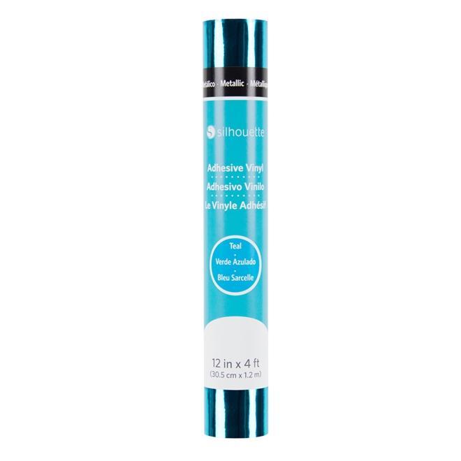 Vinil Adesivo Metálico Azul Silhouette - 30,48cm x 1,22m