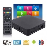 Aparelho Conversor Smart Box Tv Quad Core 8Gb Android 6.0 Exbom OTT-A2 4K 3D Ultra HD Hdmi Usb Wifi
