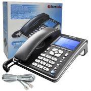 Aparelho Telefone Fixo Com Fio Identificador de Chamadas Bina Viva Voz Ibratele