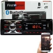 Auto Rádio Som Mp3 Player Automotivo Carro Bluetooth First Option 6660BS Fm Sd Usb Aux