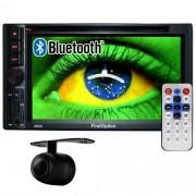 Central Multimídia 2 Din Universal 6.2 First Option SD Usb Bluetooth Tv Digital Gps Câmera de Ré