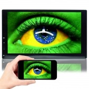Central Multimídia Mp5 Automotivo Universal 2 Din 7.0 7703C Wifi Android Bluetooth Gps Usb Sd