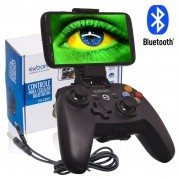 Controle Joystick Celular Bluetooth Smartphone Android e Iphone Ios Tablet Gamepad Exbom CTR-G20SF