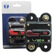 Disjuntor Automotivo 80A Tech One Proteção Resetável Liga Desliga